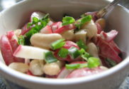 fazolový salát s ředkvičkami